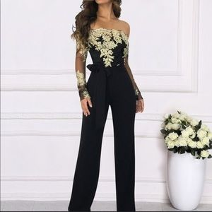 Other - Black sequined jumpsuit